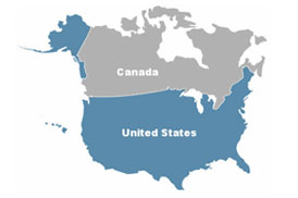 North America Network Map